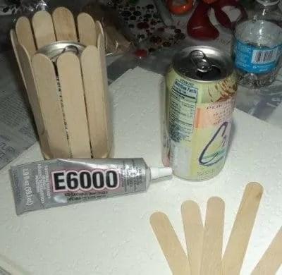 Popsicle vase materials