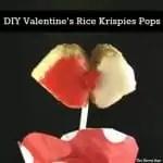 Rice Krispies Lollipops shaped as a kiss.