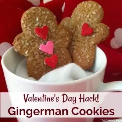 Valentine Cookie Hack! Valentine's Day Gingerbread Cookies