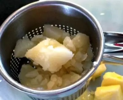 Potatoes in Ricer.