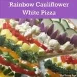 Close up of cauliflower white pizza.