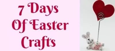 Enjoy seven days of Easter Crafts for Kids and Adults. Popsicle stick craft for toddlers who can practice their scissor skills to make a cute bunny with the their adult crafter.