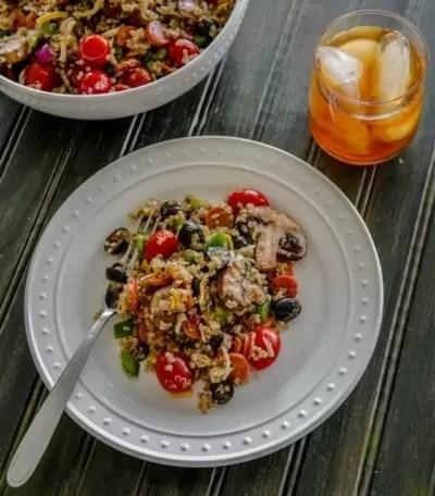Healthy Pizza Quinoa Salad Recipe