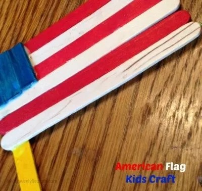 American Flag Popsicle Stick craft.