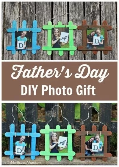 Popsicle Stick Craft for Father's Day.