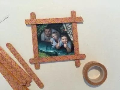 Father's Day Popsicle Stick Frame.