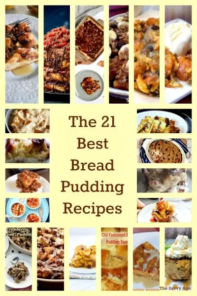 Collage of Bread Pudding recipes.