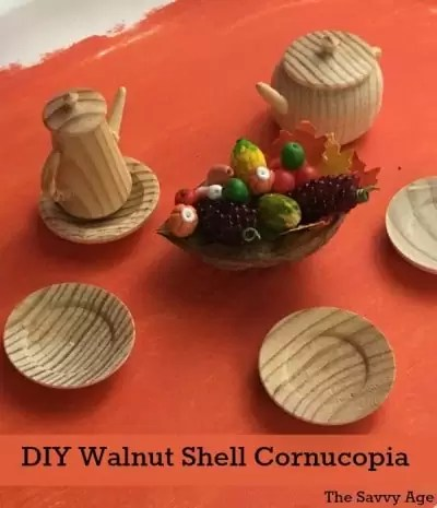 Thanksgiving Walnut Craft – Mini Cornucopia