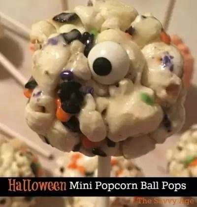 Halloween Popcorn Balls {Mini Lollipops!}