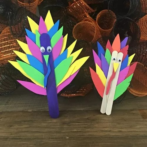 5 Thanksgiving Popsicle Stick Turkey Crafts For Kids!