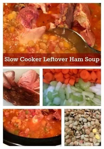 Slow Cooker Leftover Ham Soup