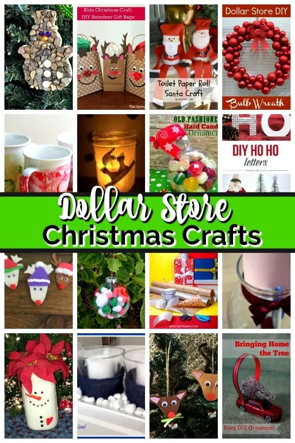 Collage of DIY Christmas decorations: ornaments, reindeer, table decorations.