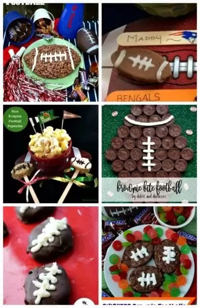 football shaped desserts