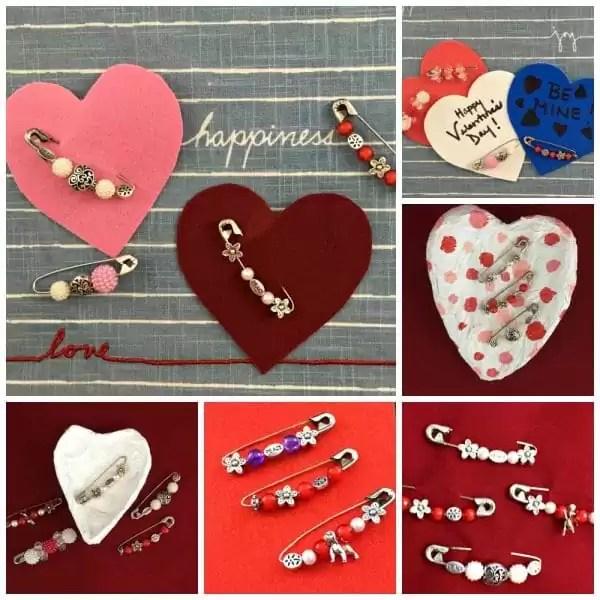 Valentine's Day Safety Pin Jewelry