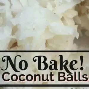 Close up no bake coconut ball