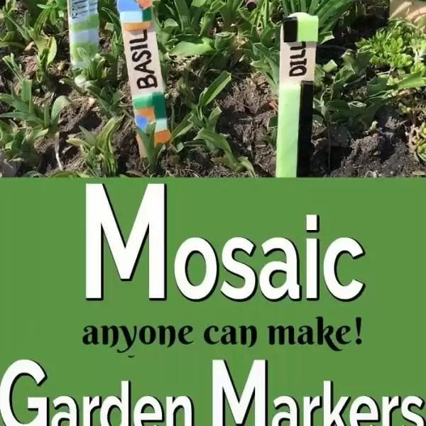 Mosaic Garden Markers Anyone Can Make!