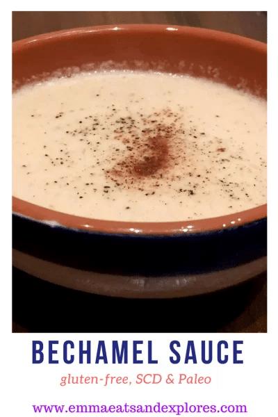 bechamel sauce in a bowl