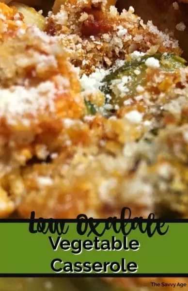 Layered vegetable casserole