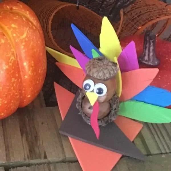 Thanksgiving Acorn Turkey Craft