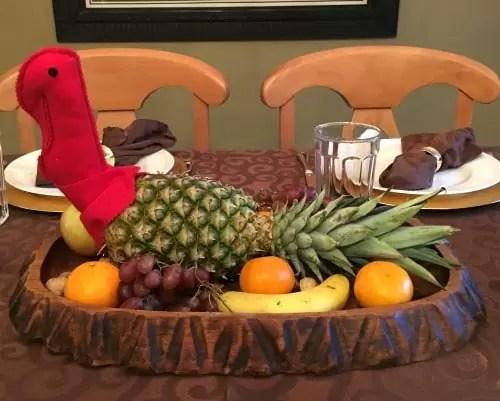 Pineapple Turkey For Thanksgiving Centerpiece
