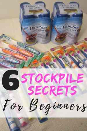 The best stockpile secrets to an organized stockpile. Save on household expenses with just $10 per week or by using coupons. Stockpile inspiration! Stockpile tips | Stockpile tricks | how to start a stockpile