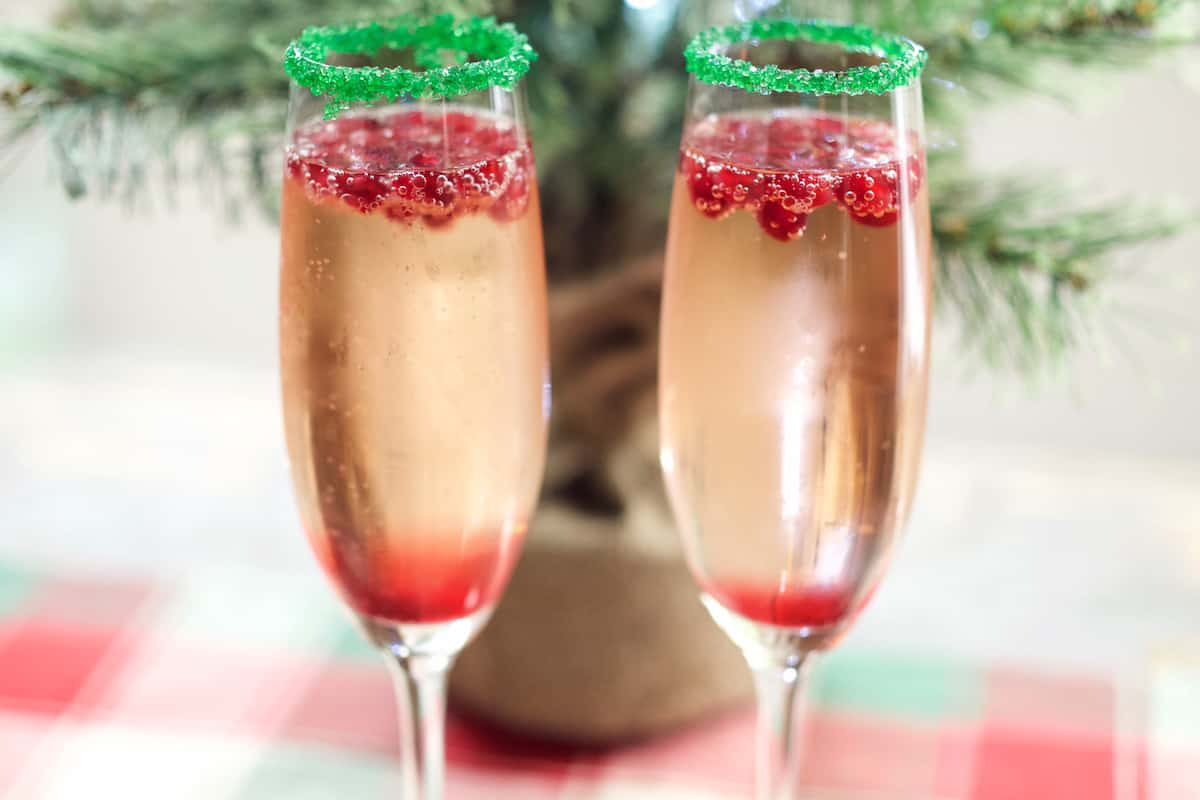 Champagne Mixed Drinks Of 11 Christmas Cocktails That Will Get The Party Started
