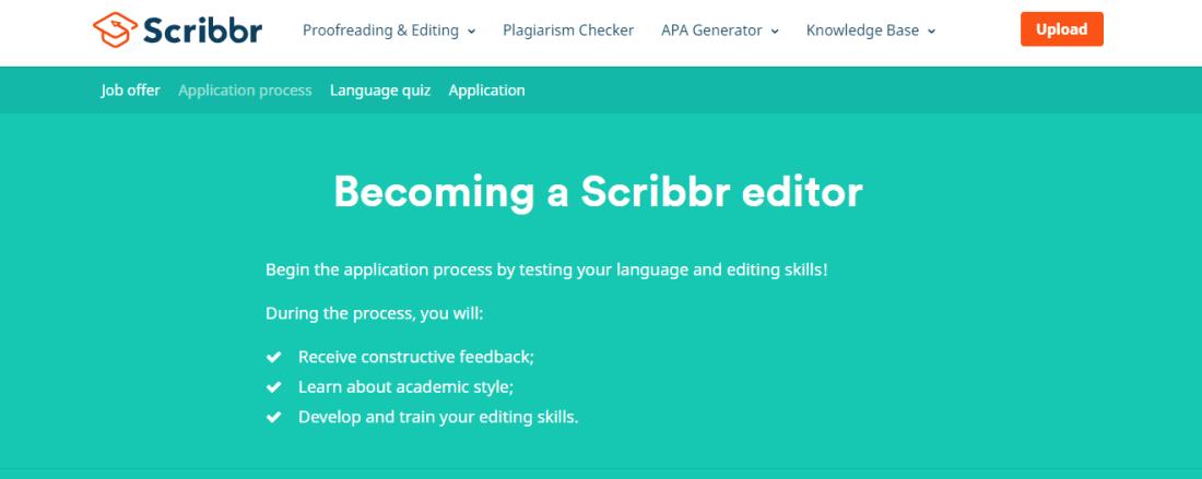 Online Proofreading Jobs/ scribbr