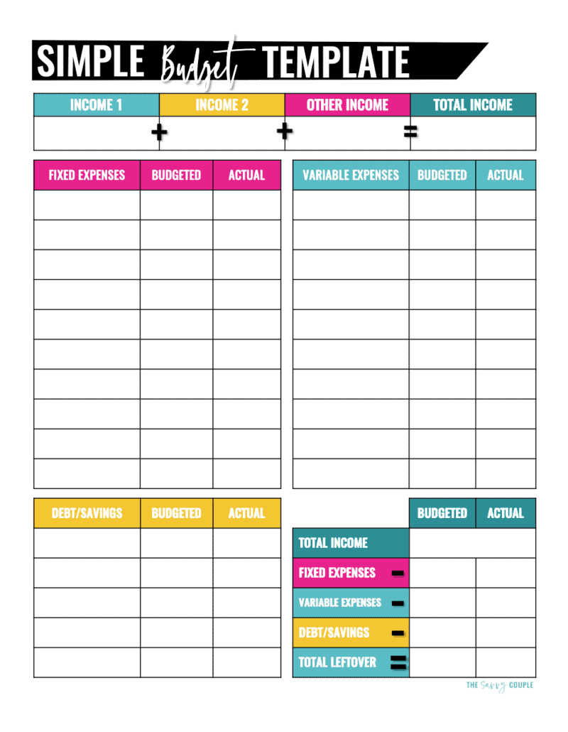 10 Budget Templates That Will Help You Stop Stressing About