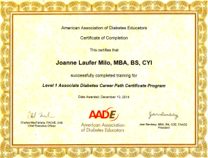 Got My Diabetes Certificate from AADE!