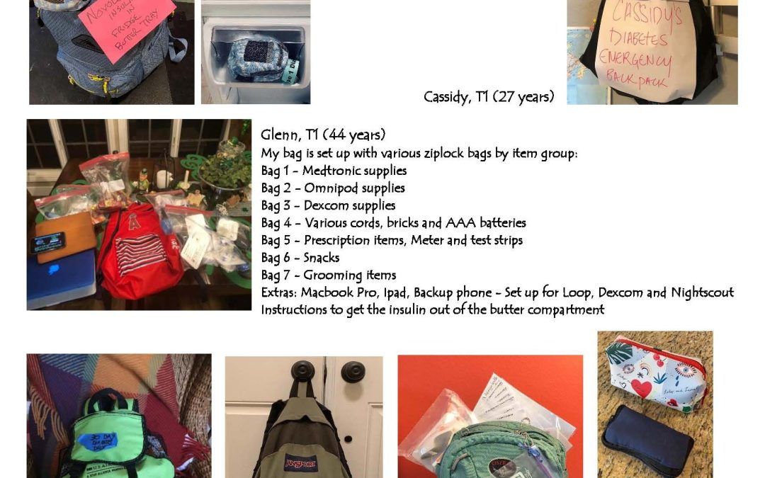 Savvy PREPARED T1, Part 2, 5/4/20: Let's Pack a T1 Go Bag!  and watch an interview with Nicole Johnson