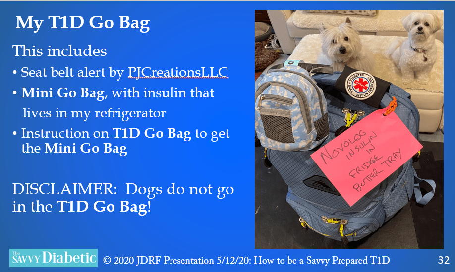 Savvy on Being a Prepared T1D, compliments of JDRF Orange County!