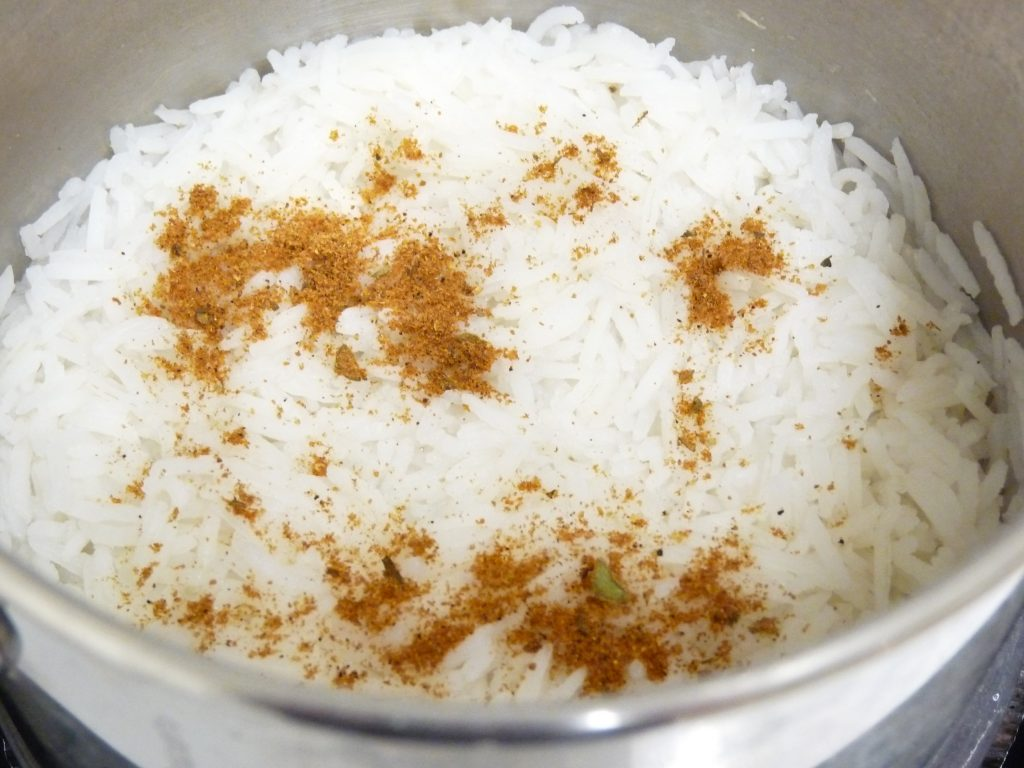Rice in a pot