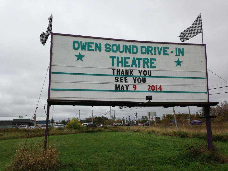 Owen Sound Drive In sign