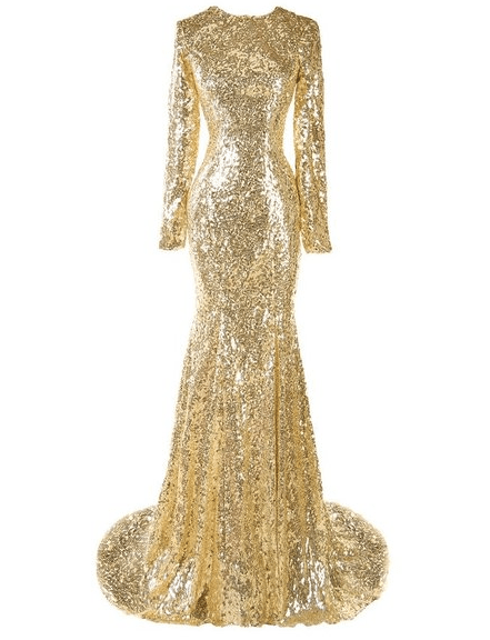 Kamishade gold dress