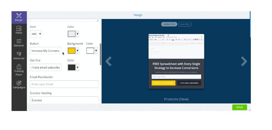 Get SUMO list builder to get more newsletter sign-ups