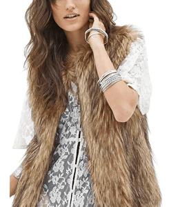 Fur vest from Amazon