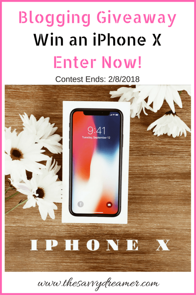 Win iPhone X by entering blogging giveaway