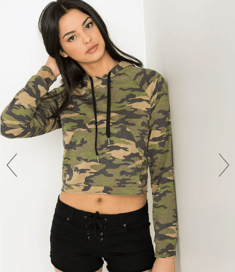 Ways to wear camouflage that are fun and easy! #camouflage #fashion #styles #hoodie