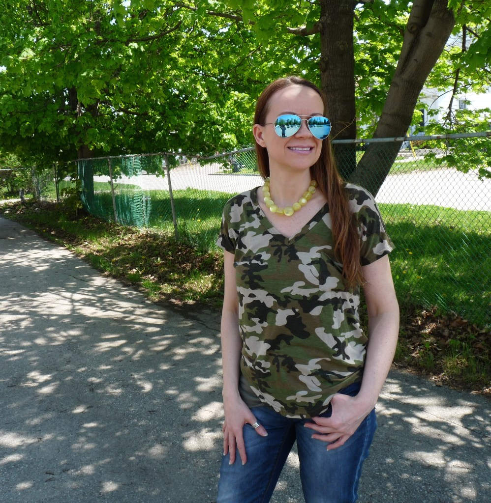Ways to wear camouflage that are fun and easy! #camouflage #fashion #styles #tee #tshirt