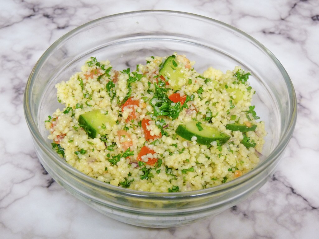 Quick and easy recipe for a nutritious couscous salad! #couscous #salad #recipe #healthyrecipes #summerrecipe