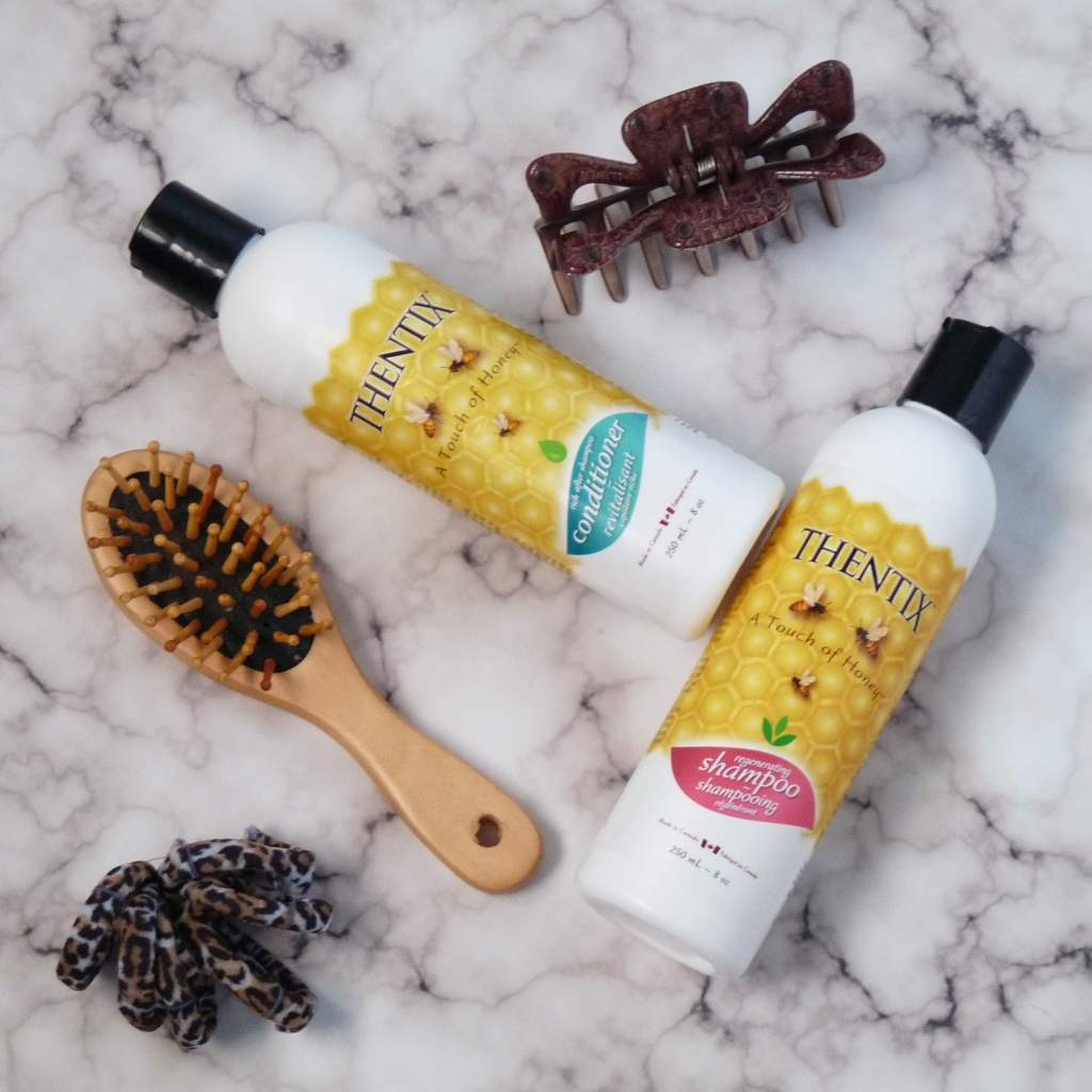 Use Thentix shampoo and conditioner to soothe dry itchy scalp