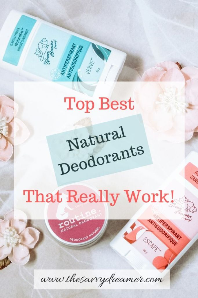 Check out these top best natural deodorants that really work #natural #deodorants