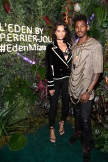 MIAMI BEACH, FL - NOVEMBER 29: Shanina Shaik and DJ Rukus attend the L'Eden By Perrier-Jouet opening night in partnership with Vanity Fair at Casa Claridge's on November 29, 2016 in Miami Beach, Florida. (Photo by Frazer Harrison/Getty Images for Perrier-Jouet)