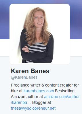 Karen Banes on Twitter