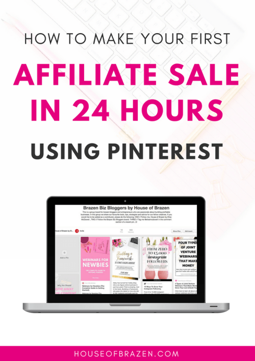 Learn how to make money from affiliate sales on Pinterest.