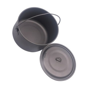 FLAME S CREED 1100ml 1950ml Ultralight Outdoor Camping Titanium Pot pan Cooking Pot fry pan Titanium
