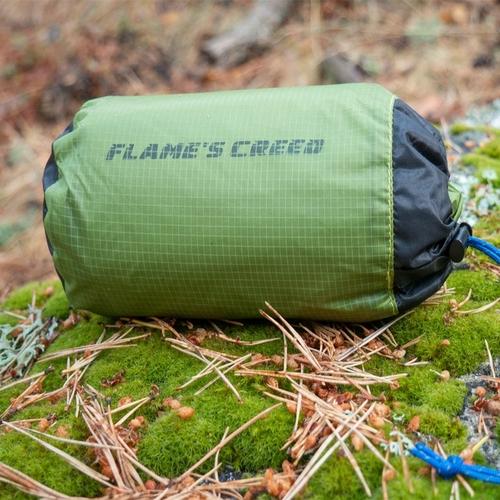 FLAME S CREED Ultralight Tarp Lightweight MINI Sun Shelter Camping Mat Tent Footprint 15D Nylon Silicone 4