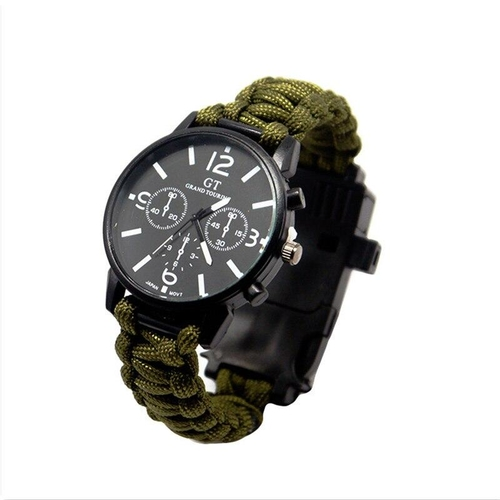 Outdoor Multifunction Camping Survival Watch Tools with LED Light 550Ibs Paracord Compass Whistle Reflector 10e7426c 74d2 447d 877b f57c31fc1f82