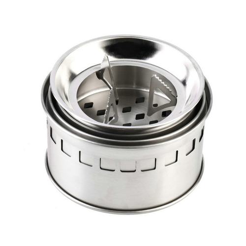 Portable Stainless Steel Camping Stove Outdoor Wood Stove Firewoods Furnace Lightweight BBQ Picnic Solidified Alcohol Stove 1.jpg 640x640 1