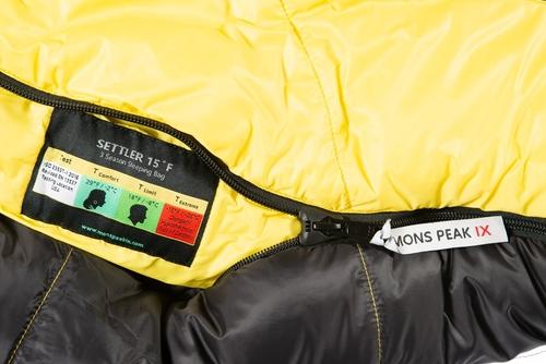 mons peak ix settler 15f sleeping bag r zipper 6